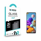 Eiroo Samsung Galaxy A21s Tempered Glass Cam Ekran Koruyucu