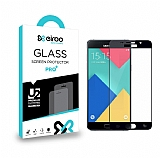 Eiroo Samsung Galaxy A3 2016 Curve Tempered Glass Siyah Full Cam Ekran Koruyucu