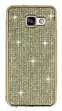 Eiroo Samsung Galaxy A3 2016 Ta�l� Gold Silikon K�l�f