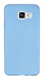 Samsung Galaxy A3 2016 Ultra İnce Şeffaf Mavi Silikon Kılıf