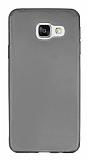 Samsung Galaxy A3 2016 Ultra İnce Şeffaf Siyah Silikon Kılıf