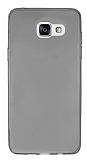 Samsung Galaxy A5 2016 Ultra İnce Şeffaf Siyah Silikon Kılıf