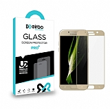 Eiroo Samsung Galaxy A5 2017 Curve Tempered Glass Gold Full Cam Ekran Koruyucu