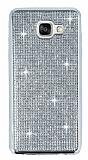 Eiroo Samsung Galaxy A7 2016 Taşlı Silver Silikon Kılıf