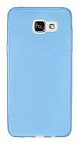 Samsung Galaxy A7 2016 Ultra İnce Şeffaf Mavi Silikon Kılıf