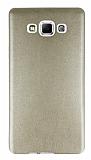 Samsung Galaxy A7 Ultra İnce Deri Gold Silikon Kılıf