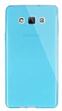 Dafoni Aircraft Samsung Galaxy A7 Ultra İnce Şeffaf Mavi Silikon Kılıf
