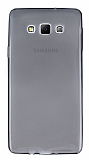 Samsung Galaxy A7 Ultra İnce Şeffaf Siyah Silikon Kılıf