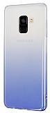 Eiroo Samsung Galaxy A8 2018 Geçişli Mor Rubber Kılıf