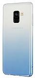 Eiroo Samsung Galaxy A8 2018 Geçişli Mavi Rubber Kılıf
