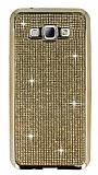 Eiroo Samsung Galaxy A8 Ta�l� Gold Silikon K�l�f
