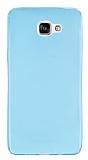 Samsung Galaxy A9 Ultra İnce Şeffaf Mavi Silikon Kılıf