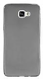 Eiroo Samsung Galaxy A9 Ultra İnce Şeffaf Siyah Silikon Kılıf