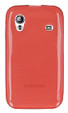 Eiroo Samsung Galaxy Ace S5830 Ultra �nce �effaf Koyu Pembe Silikon K�l�f