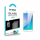 Eiroo Samsung Galaxy C5 Pro Tempered Glass Full Beyaz Cam Ekran Koruyucu