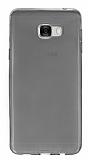 Samsung Galaxy C5 Ultra İnce Şeffaf Siyah Silikon Kılıf