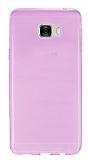 Samsung Galaxy C7 SM-C7000 Ultra İnce Şeffaf Pembe Silikon Kılıf
