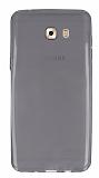 Samsung Galaxy C9 Pro Ultra İnce Şeffaf Siyah Silikon Kılıf