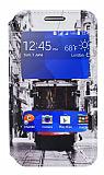 Samsung Galaxy Core 2 Gizli Mıknatıslı Çift Pencereli Taksim Deri Kılıf