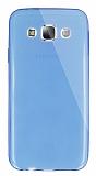 Dafoni Aircraft Samsung Galaxy E5 Ultra İnce Şeffaf Mavi Silikon Kılıf