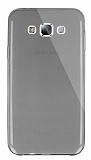 Dafoni Aircraft Samsung Galaxy E7 Ultra İnce Şeffaf Siyah Silikon Kılıf