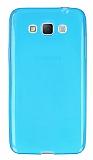 Samsung Galaxy Grand Max Ultra İnce Şeffaf Mavi Silikon Kılıf