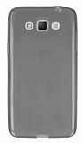 Samsung Galaxy Grand Max Ultra İnce Şeffaf Siyah Silikon Kılıf