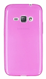 Samsung Galaxy J1 2016 Ultra İnce Şeffaf Pembe Silikon Kılıf