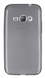 Samsung Galaxy J1 2016 Ultra İnce Şeffaf Siyah Silikon Kılıf