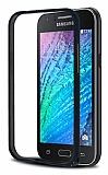 Eiroo Samsung Galaxy J1 Metal Bumper Çerçeve Siyah Kılıf