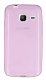 Samsung Galaxy J1 mini Ultra İnce Şeffaf Pembe Silikon Kılıf