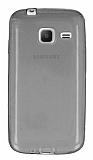 Eiroo Samsung Galaxy J1 mini Ultra İnce Şeffaf Siyah Silikon Kılıf