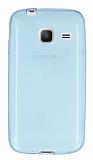 Eiroo Samsung Galaxy J1 mini Ultra İnce Şeffaf Mavi Silikon Kılıf