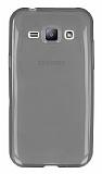 Samsung Galaxy J1 Ultra İnce Şeffaf Siyah Silikon Kılıf