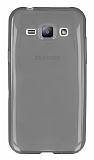 Eiroo Samsung Galaxy J1 Ultra İnce Şeffaf Siyah Silikon Kılıf