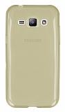 Eiroo Samsung Galaxy J1 Ultra �nce �effaf Gold Silikon K�l�f