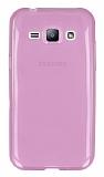 Eiroo Samsung Galaxy J1 Ultra �nce �effaf Pembe Silikon K�l�f