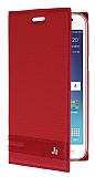 Samsung Galaxy J2 Gizli Mıknatıslı Kırmızı Deri Kılıf