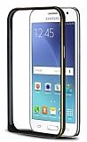 Eiroo Samsung Galaxy J2 Gold �izgili Metal Bumper �er�eve Siyah K�l�f