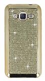 Eiroo Samsung Galaxy J2 Taşlı Gold Silikon Kılıf