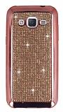 Eiroo Samsung Galaxy J2 Taşlı Rose Gold Silikon Kılıf