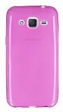 Samsung Galaxy J2 Ultra İnce Şeffaf Pembe Silikon Kılıf