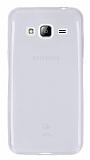 Eiroo Samsung Galaxy J3 2016 Ultra İnce Şeffaf Silikon Kılıf