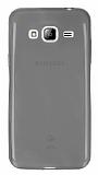 Eiroo Samsung Galaxy J3 2016 Ultra İnce Şeffaf Siyah Silikon Kılıf