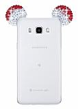 Eiroo Samsung Galaxy J5 2016 Taşlı Kulaklı Kırmızı Silikon Kılıf