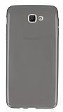 Eiroo Samsung Galaxy J5 Prime Ultra İnce Şeffaf Siyah Silikon Kılıf