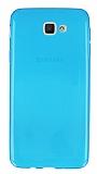 Eiroo Samsung Galaxy J5 Prime Ultra İnce Şeffaf Mavi Silikon Kılıf