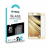 Eiroo Samsung Galaxy J5 Pro 2017 Curve Tempered Glass Full Gold Cam Ekran Koruyucu