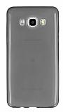Samsung Galaxy J7 2016 Ultra İnce Şeffaf Siyah Silikon Kılıf