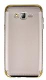 Eiroo Samsung Galaxy J7 3ü 1 Arada Gold Kenarlı Gold Silikon Kılıf